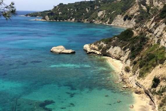 Beautiful view of a beach in Kefalonia, Greece