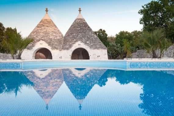 Swimming pool at the yoga retreat in Puglia, Italy