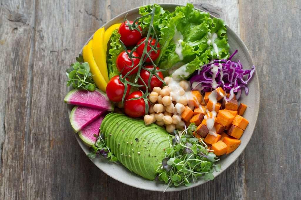 A bowl of healthy salad